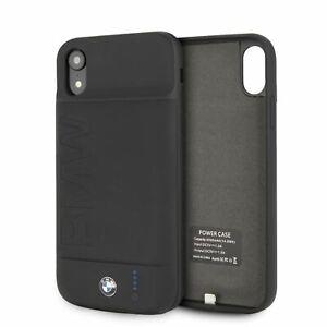 BMW-Batteria-Custodia-per-IPHONE-XR-Completo-Cover-4000mAh-Gomma-Finitura-Nero
