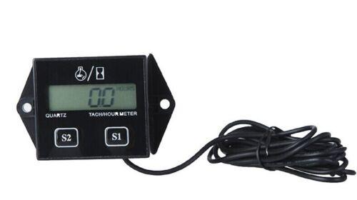 Spark Plugs Engine Digital Tach Hour Meter Tachometer Gauge Motorcycle ATV