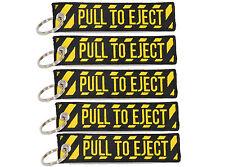 5 PULL TO EJECT Key Chain aviation atv utv motorcycle pilot crew tag lock 4x4 rv