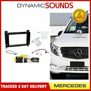 CTKMB17 Double Din Fascia Steering Antenna Fitting Kit For Mercedes Vito 2015>