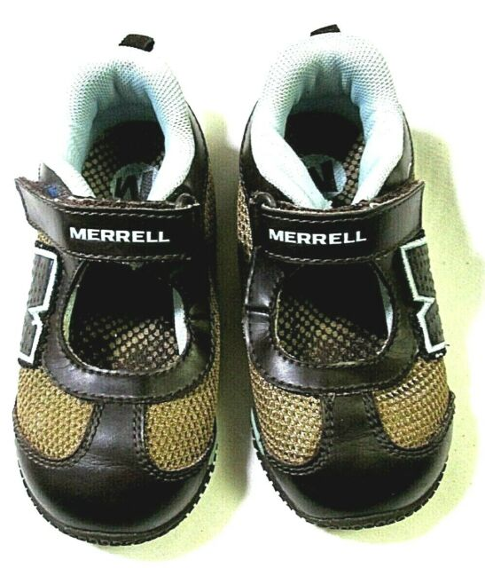 Merrell Relay Tour Kids Coffee Bean Mary Janes Shoes Unisex Size 8