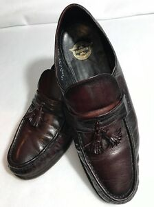 Florsheim Mens Size 10 Black Leather Dress Shoes