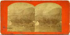 Stereoview Photo England Scotland Alexander Shields Residence & Mountain Scenery