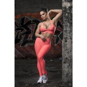 aa0f73d59f7e2 Image is loading Brazilian-Authentic-GYM-SET-Fitness-Top-Leggings-Honeycomb-