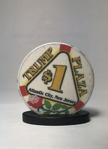 $1 Harrah/'s Trump Plaza CASINO CHIP Red 1 1984 Atlantic City