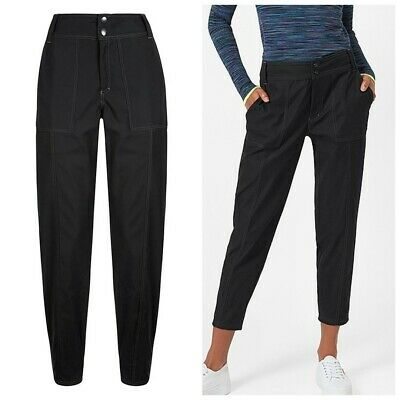 sweaty betty trouser pants velma sz l black high waist  ebay