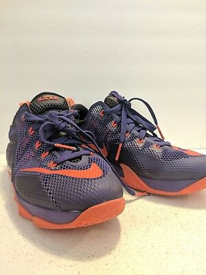 new concept fdf1e a133a NIKE LEBRON JAMES XII LOW (12) THE TWELVE purple/orange size 7y youth  888409833838 | eBay