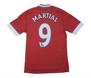 Manchester United 2015-16 ORIGINALE HOME SHIRT MARZIALE #9 (eccellente) S