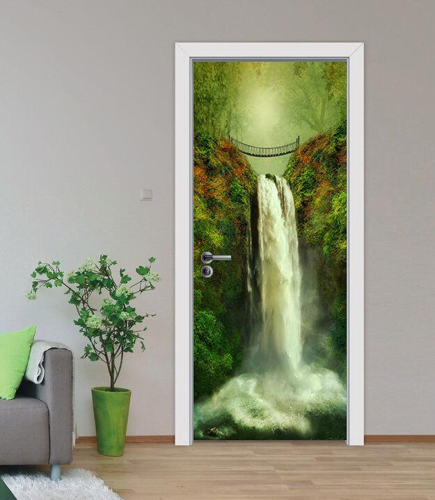 3D Bergbach 79 Tür Wandmalerei Wandaufkleber Aufkleber AJ WALLPAPER DE Kyra
