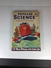 Popular Science Monthly, Mechanics & Handicraft Magazine April 1940
