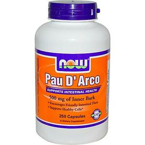 Now Foods Pau D Arco 250 X 500mg Caps Intestinal