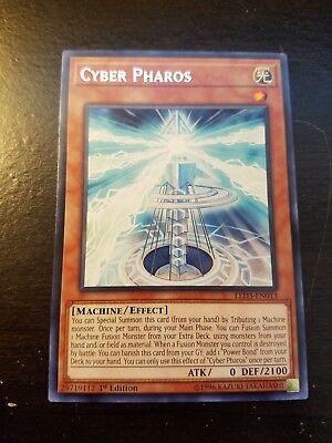 3x Yugioh LED3-EN013 Cyber Pharos Rare 1st Edition NM