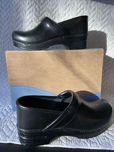 DANSKO  Professional clog Black Cabrio Leather Size 42 Reg NIB $89 806-02020
