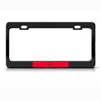 MOROCCO FLAG MOROCCAN Metal License Plate Frame Tag Holder Two Holes