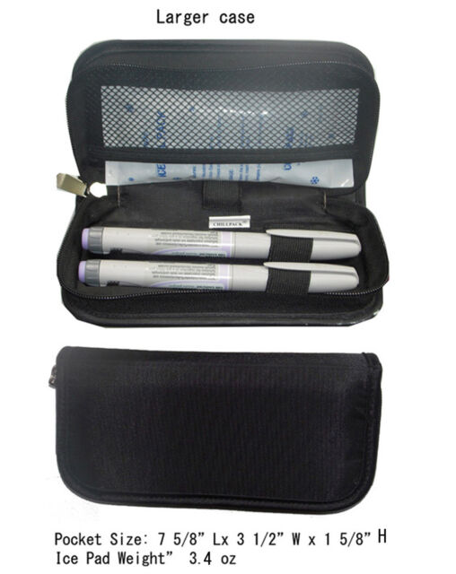 Insulin Case Medicine Cooling Pouch Travel Diabetic Carry Cooler Pen 2 Ice Bag Ebay