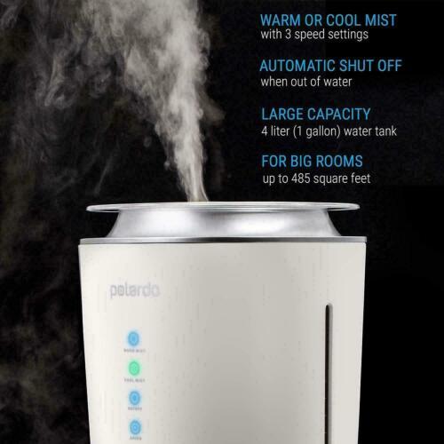 Cool /& Warm Mist Humidification Polardo Ultrasonic Air Humidifier
