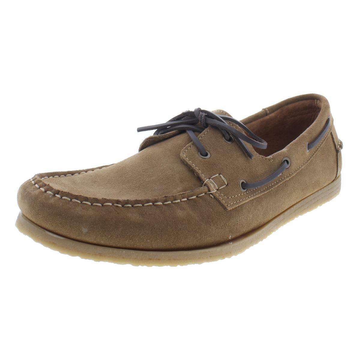 Steve Madden Mens Buoy Brown Suede Loafer Boat shoes 9 Medium (D) BHFO 9847
