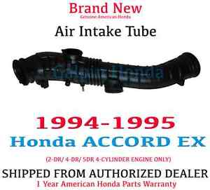 Genuine OEM Honda Accord EX 4Cyl 2.2L Air Intake Tube 1994-1995 (17228-P0A-A00)