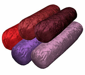 Mn-Crinkle Crush Shimmer Velvet Bolster CASE Yoga//Neck Roll Cushion COVER*Custom