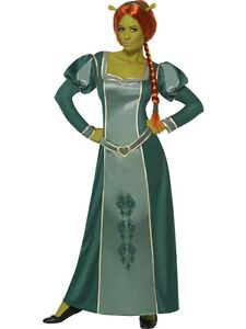 Ladies-Licenced-Shrek-Princess-Fiona-Fancy-Dress-Costume-All-Sizes
