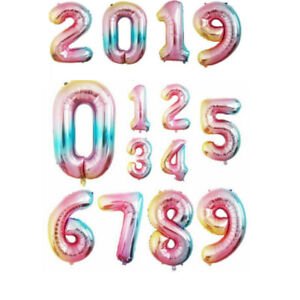 32-034-40-034-Foil-Number-Balloons-letter-Air-Helium-Birthday-Age-Party-Wedding-Decor