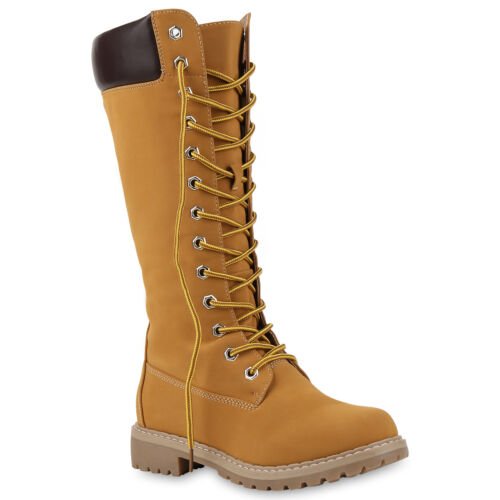Sohle Absatz optik Schuhe Leder Stiefel Profil Block Schnürstiefel 813017  Fx5AO be50a542c41