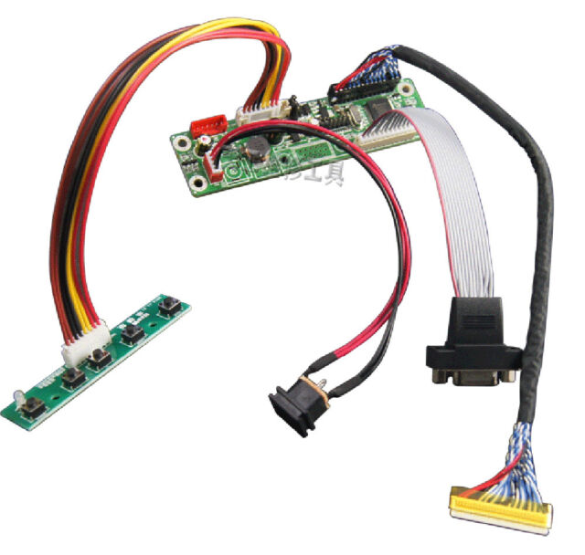 6Pcs Set VGA LCD Controller Drive Board LVDS Driver Up to1920x1080 Screen Panel