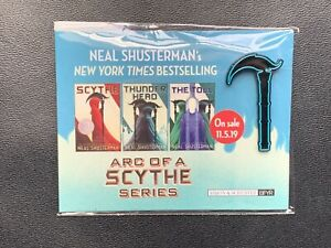 SDCC-2019-EXCLUSIVE-Neal-Shusterman-s-Arc-of-a-Scythe-Promo-Enamel-Pin