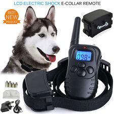 Choque eléctrico Perro E-Collar formación Controlador Remoto Antiladrido Recargable Reino Unido