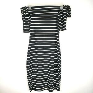 Juicy Couture Womens Medium Black and White Strip Cowl ...