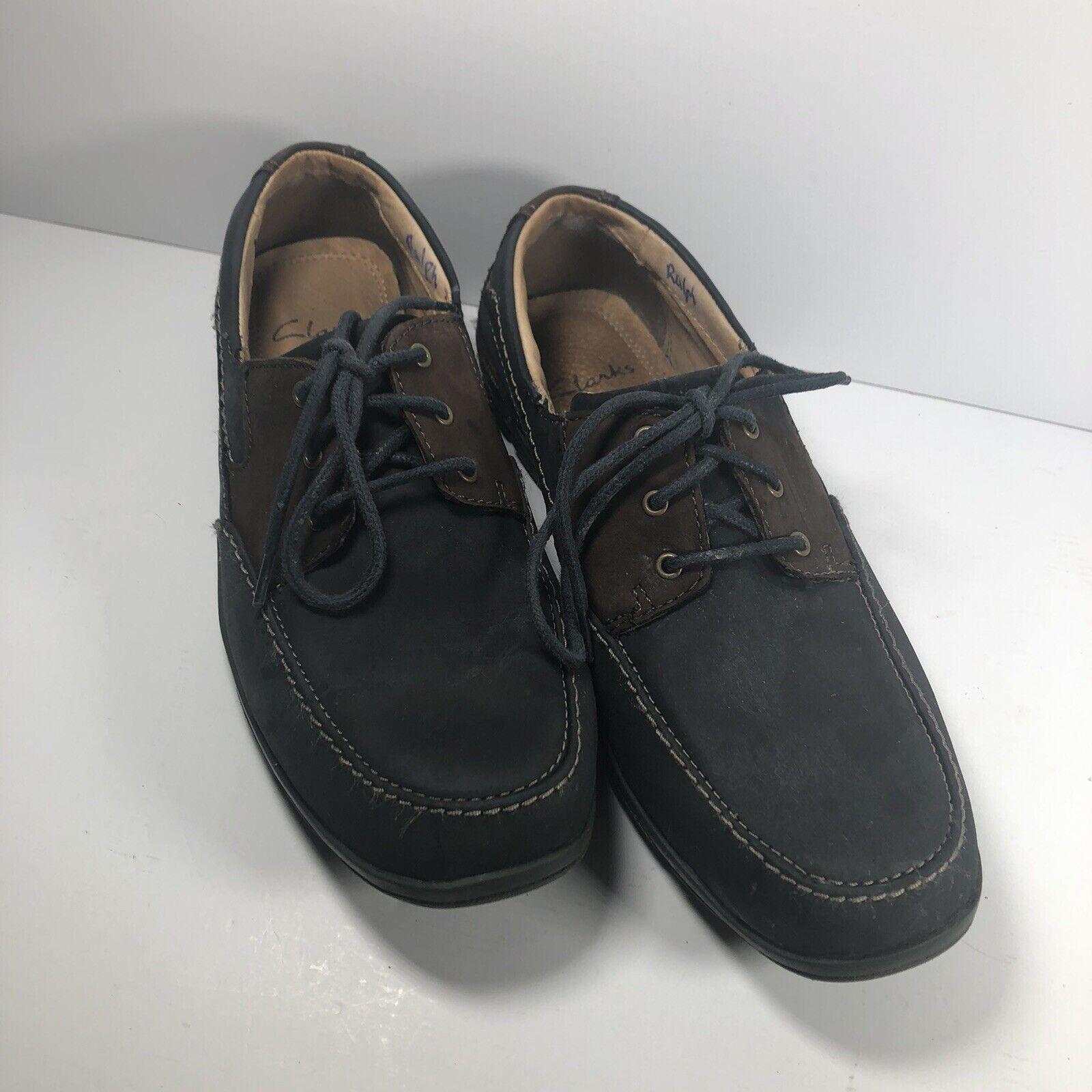 Clarks Mens Latch Bay Navy Combi NBK Shoes UK 7G