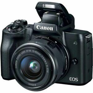 CANON-EOS-M50-compacts-camera-numerique-avec-objectif-15-45-mm-Noir-Stock-au-Royaume-Uni
