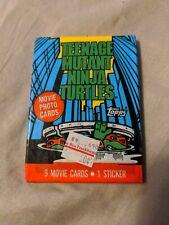 Lot of 3 O-Pee-Chee 1990 Teenage Mutant Ninja Turtle Unopened Trading Card Packs