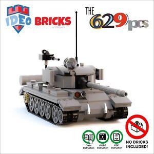 custom lego moc tank t54 t55 soviet zsrr ww2 only instruction