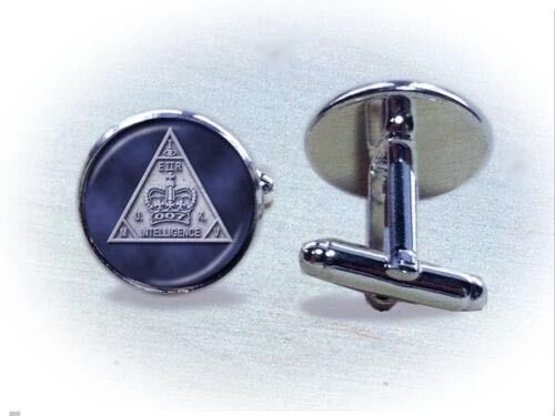 007 James Bond Military Intelligence Badge Cufflinks