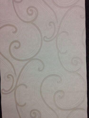 Gran deco gris argent cuir peau effet nacré Vinyle Rococo Swirl papier peint