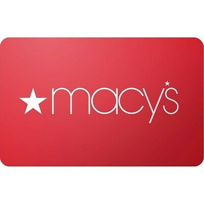Macy's $50 Gift Card For Only $46.5!  Free Mail Delivery, Pre-Owned Card