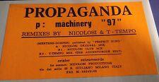 "Propaganda-p: Machinery 97 12"" Mix EX Remixed by Nicolosi & T-Tempo White Label"