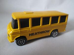 1984 corgi juniors 1 64 yellow mercedes benz heathrow school bus