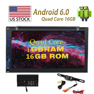 Android-6-0-Car-Radio-Stereo-7-034-Double-2Din-GPS-Navigation-HD-Rear-Camera-4-Core