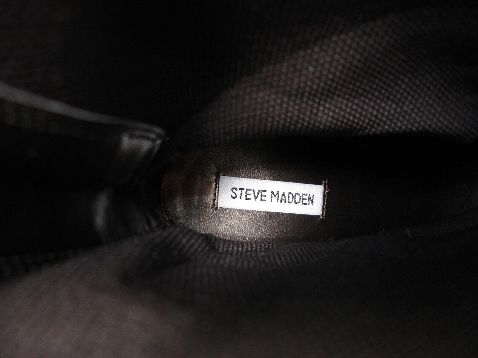 STEVE MADDEN HARTHROB 2 TONE LEATHER PULL ON BELOW BELOW BELOW CALF BOOTS WOMEN'S 8 63b9c1