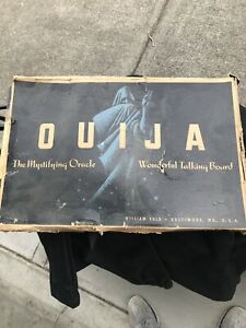 Vintage-1950-039-s-Ouija-Board-With-Box