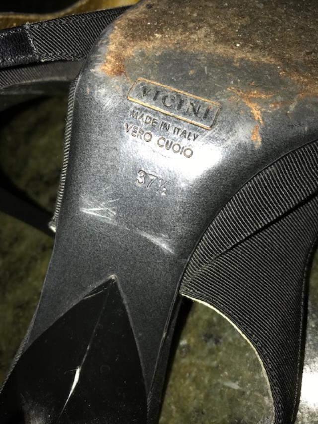 Giuseppe Zanotti Black Peau de soir soir soir & Leather slingback shoes, 37.5, 7.5-8 M 175569