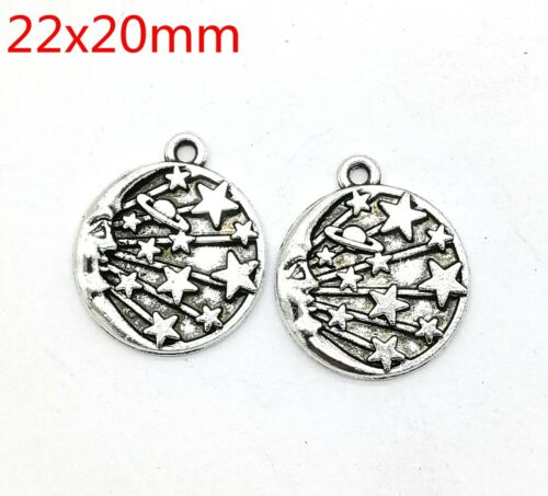 Tibetan silver Beautiful  fashion round pendant Bracelet jewelry 10pcs