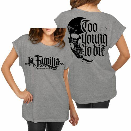 Femmes T-shirt La Familia Blood Beer Streetwear bordeI You Hardcore Taille Xs 3xl