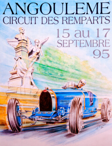 Remparts 1995 Race poster print A3