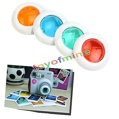 R59a Fuji Fujifilm Instax Mini 8 7s Polaroid300 Four Colour Filter Close up Lens