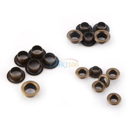 100pcs Metal Eyelets Grommets Washers Set Leather Craft DIY Sewing Accessories