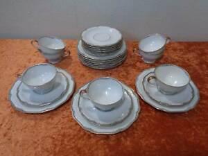 Vintage-25-tlg-Konvolut-Kaffeeservice-Hutschenreuther-Design-Porzellan-Weimar