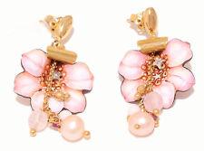GABRIELLA RIVALTA ORECCHINI ORO DIAMANTI PERLE SMALTI EARING GOLD DIAMONDS PEARL